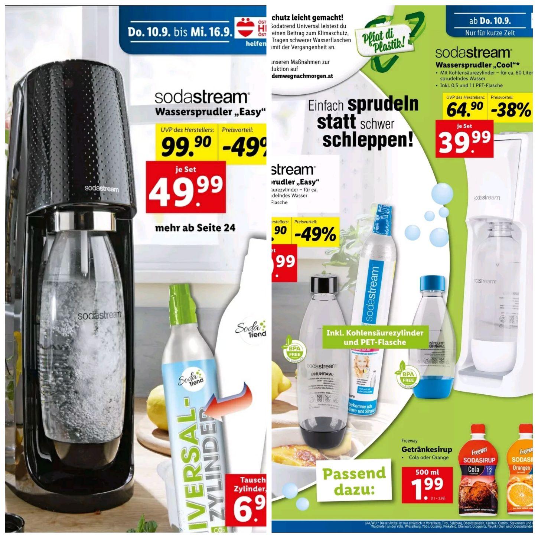 Sodastream Easy & Sodastream Cool für €49,99 & €39,99 bei Lidl