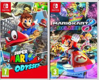 Super Mario Odyssey oder Super Mario Kart 8 Deluxe (Nintendo Switch)