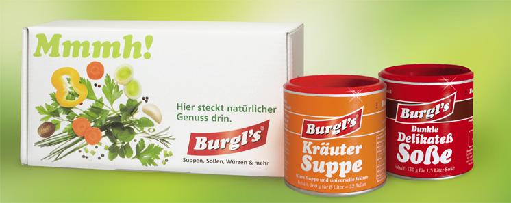 GRATIS Burgl's Testpaket (Suppe & Soße) + gratis Versand