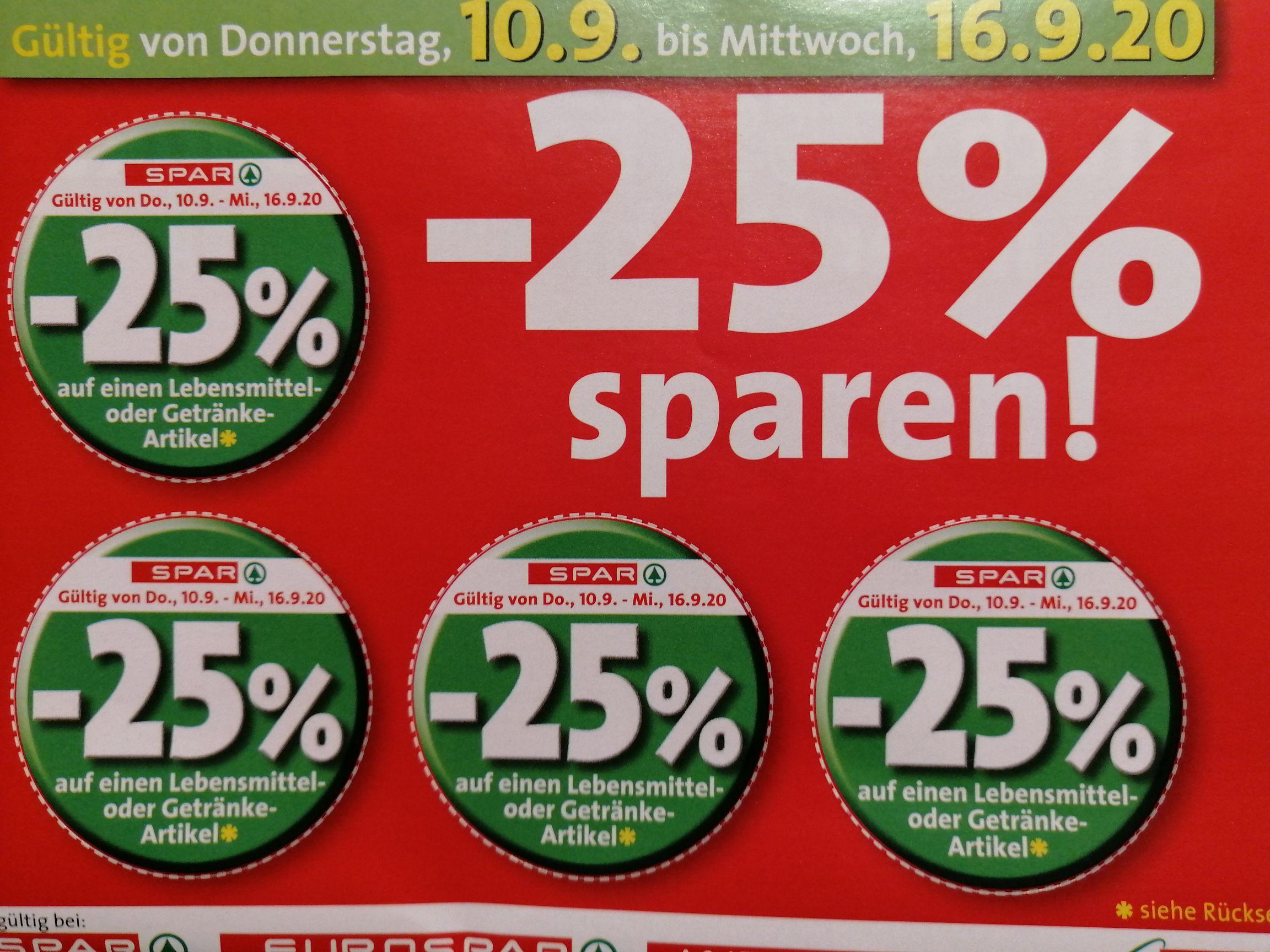 25% Rabattpickerl bei Spar, Runde 73...