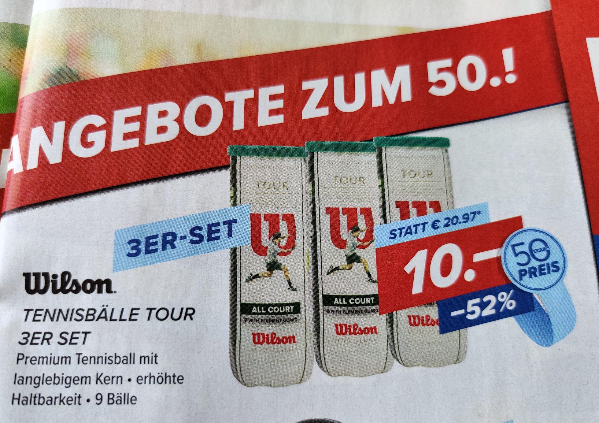 [Hervis] Wilson All Court Tennisbälle 3er Set nur 10€