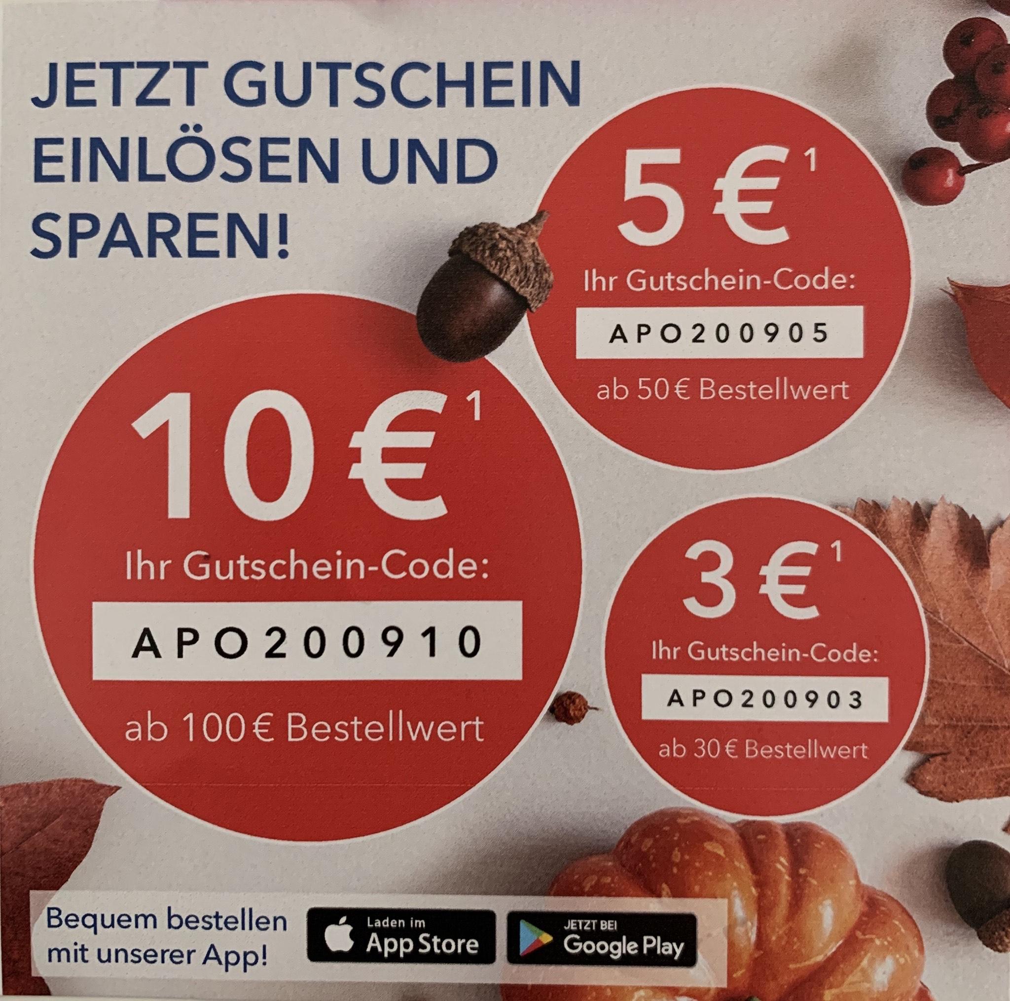 Shop Apotheke Gutscheine (10% ab 30 €) oder 10% ab 49€