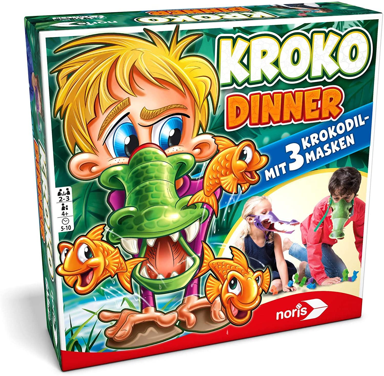 Noris 606011756 - Kroko Dinner - Das Party- und Geschicklichkeitsspiel