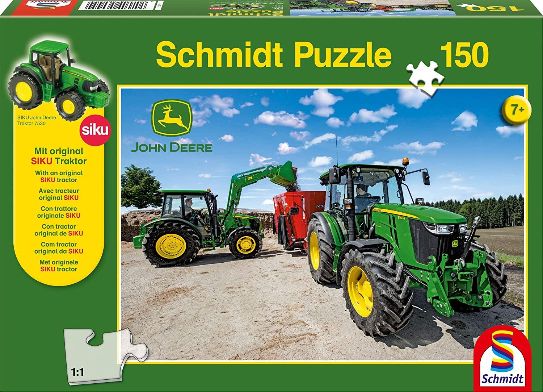 Schmidt Spiele 56045 - Puzzle 150 Teile + Siku 7530 Traktor