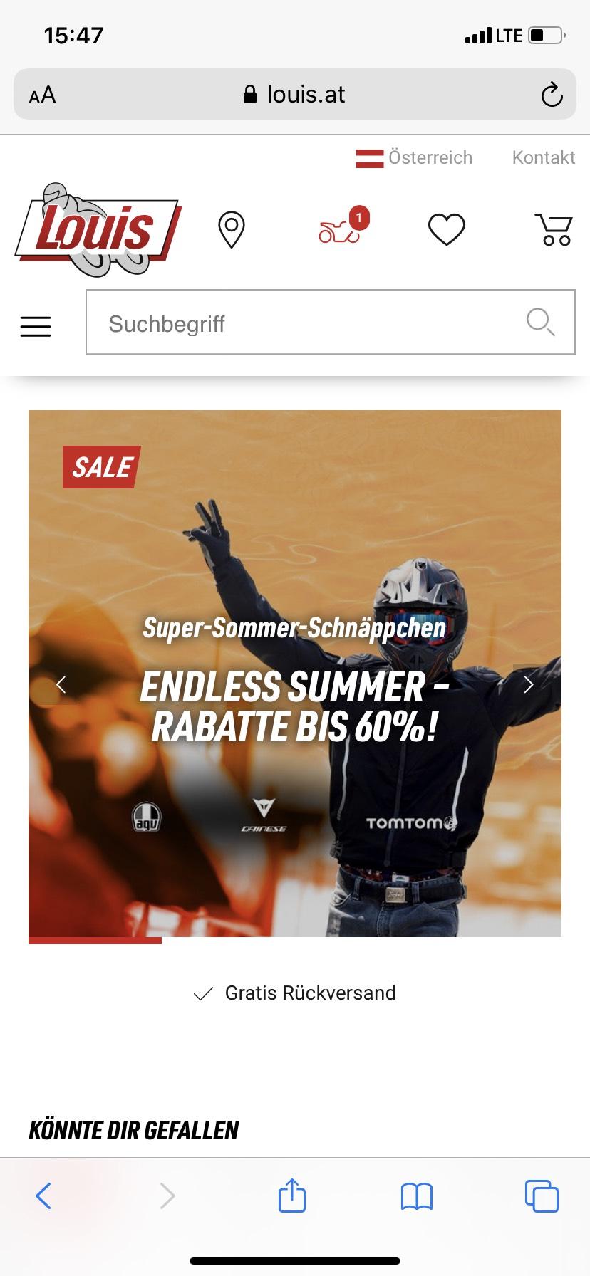 Louis Motorrad - Endless Summer Rabatte