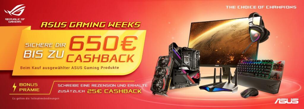 Asus Cashback auf Mainboards (20€-40€) u.a. B550 ROG Strix-F Wifi 165€, Grafikkarten, ...