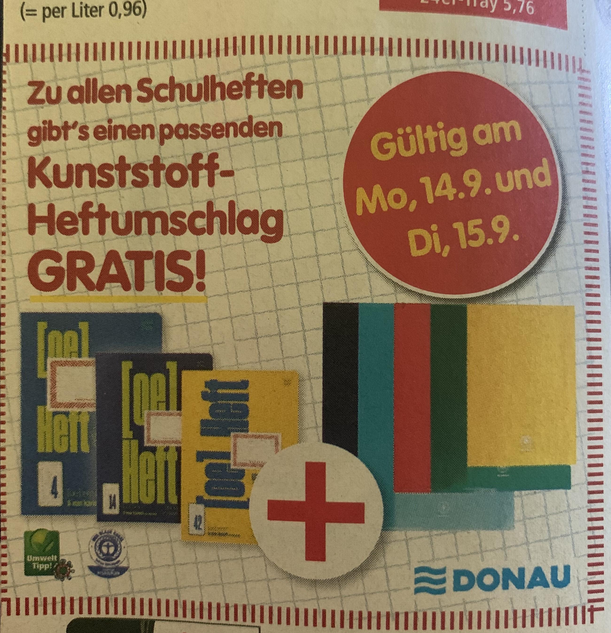 Kostenloser Umschlag beim Kauf eines Heftes bei Interspar
