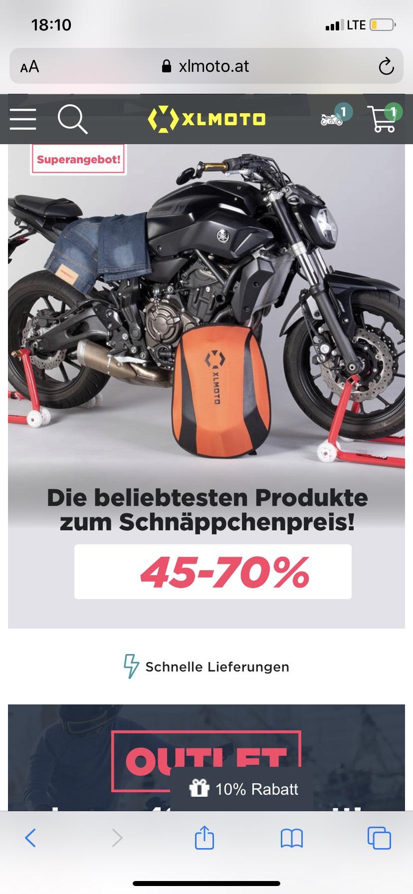 Xlmoto 45-70% und zusätzlich 10% mit den Gutscheincode