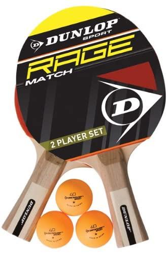 Dunlop AC Rage Match Set von 2 Tisch Tennis Schläger