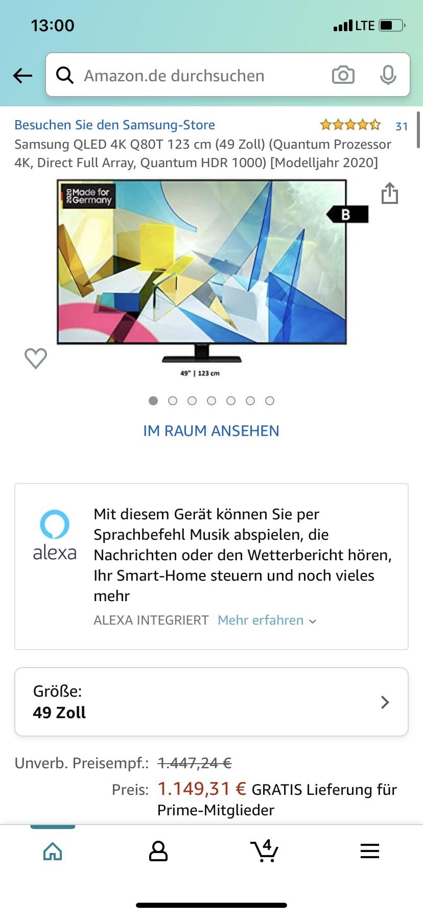 Samsung QLED 4K 49 Zoll