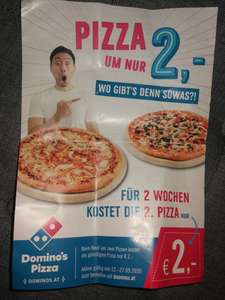 Domino's Pizza - zweite Pizza um 2€