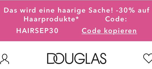 - 30 % auf alle Haarprodukte oder € 5,— Rabatt auf alles...