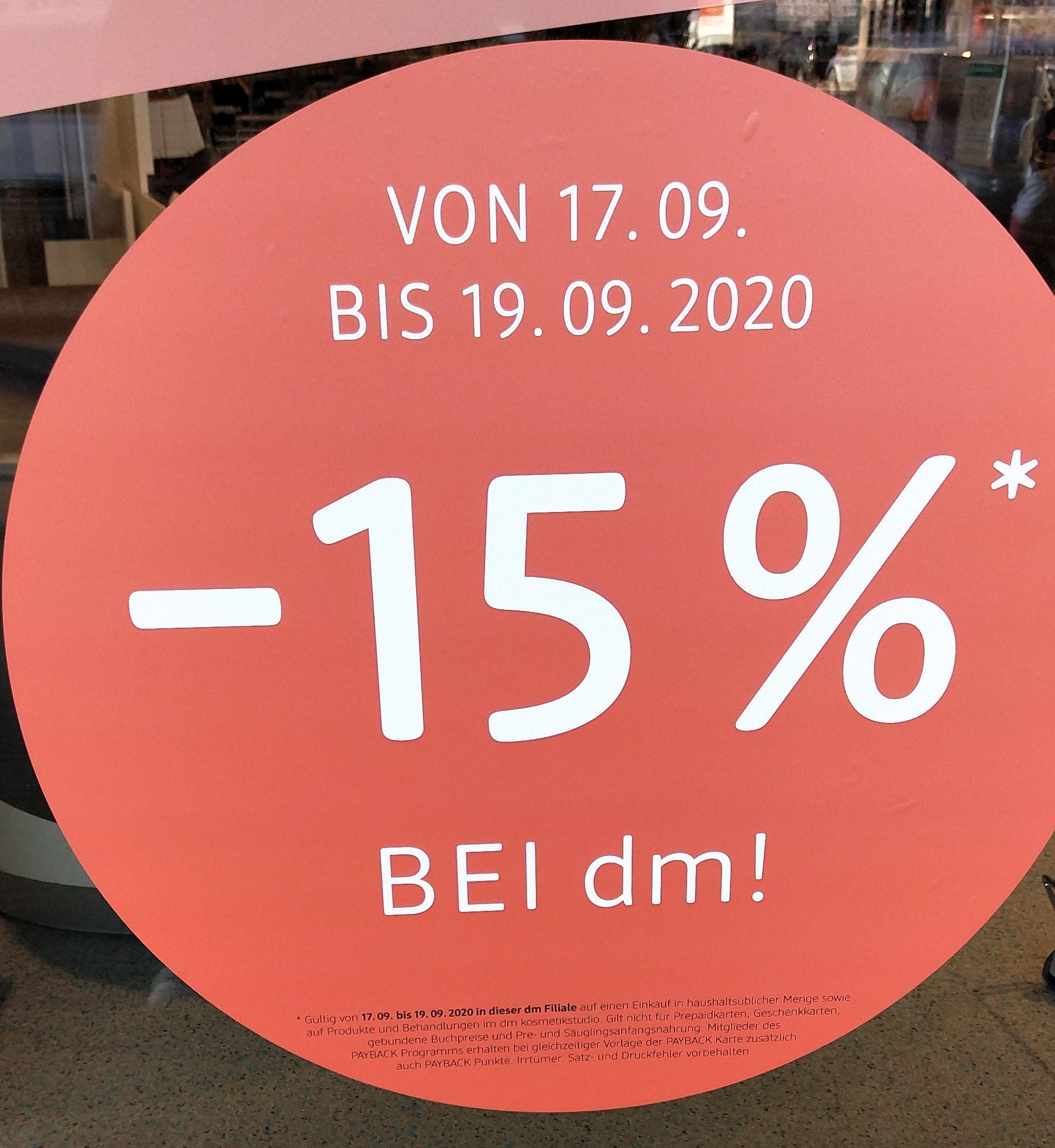 dm Linz, Helmholtzstr. 15% auf (fast) alles