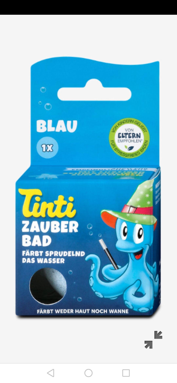 dm: Tinti Zauberbad Badekugel blau