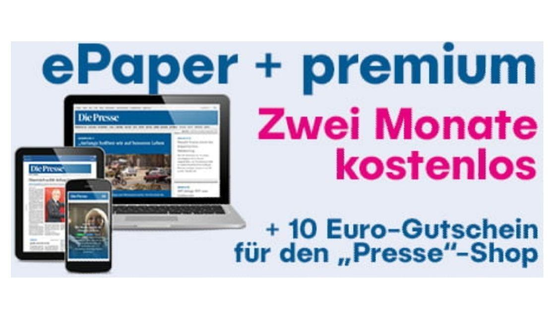 Die Presse: GRATIS 10€ Onlineshop Gutschein