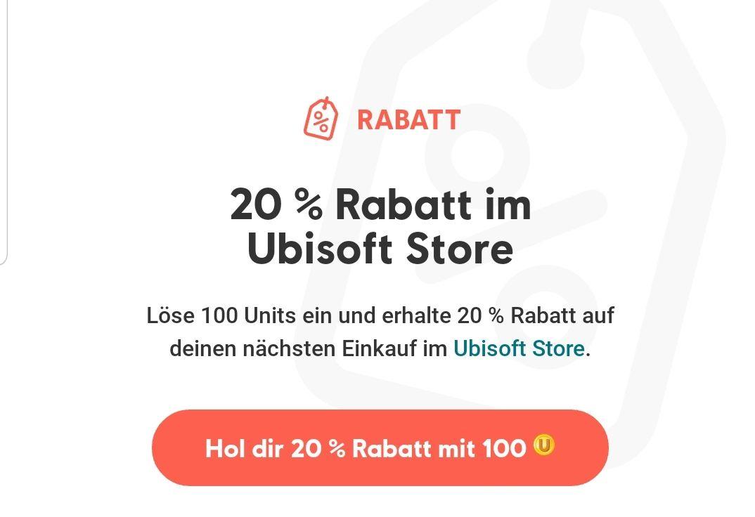Ubistore: 20% bei einlösen von 100 Ubipoints
