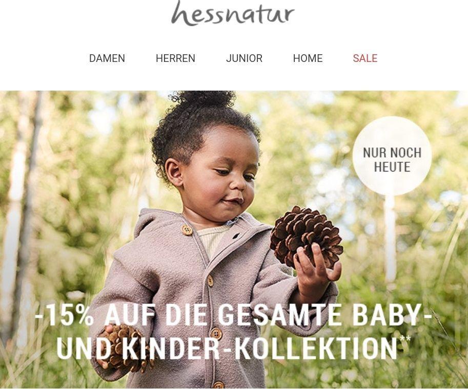 Hessnatur -15% auf Kinderkleidung