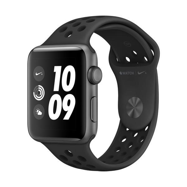 Apple Watch Nike+ Series 3 (GPS) Aluminium 42mm grau mit Sportarmband anthrazit/schwarz