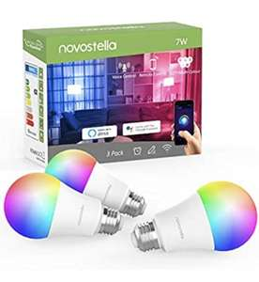 Novostella 3 Pack Smart Lampe E27 Alexa Glühbirnen