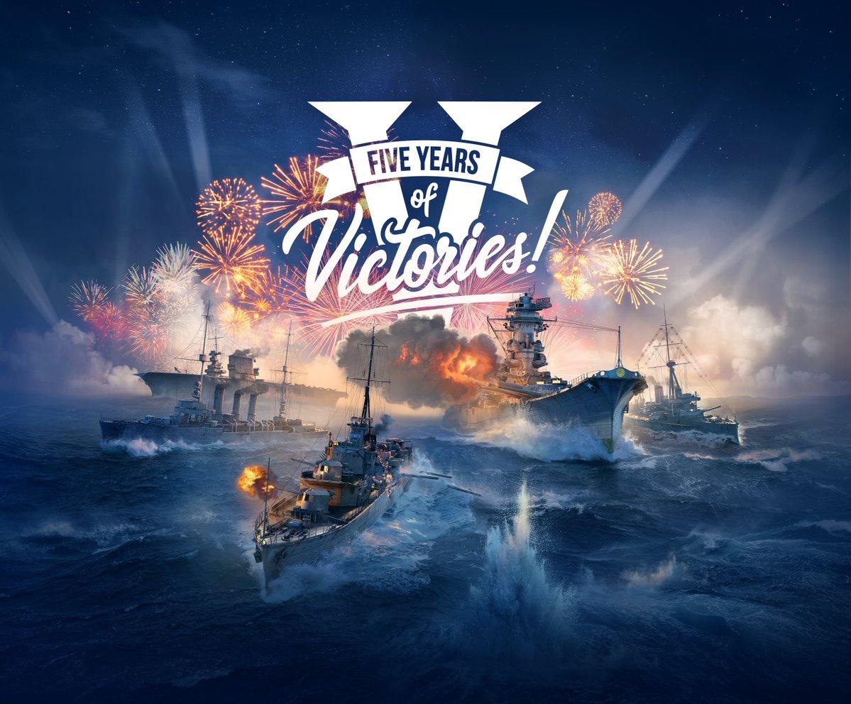 World of Warships (PC) 5th Year Anniversary Einladungscode für neue Spieler im Wert von ca. 40+ Euro