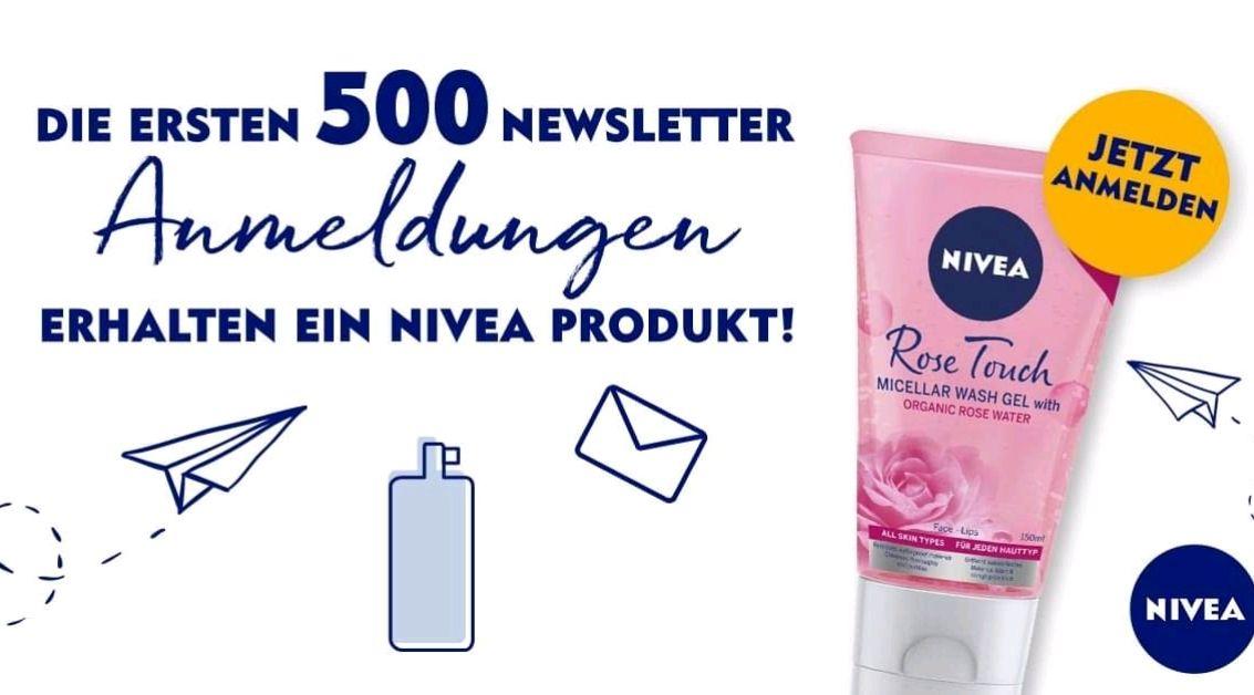 Nivea: GRATIS Waschgel für die ersten 500 Newsletter-Anmeldungen