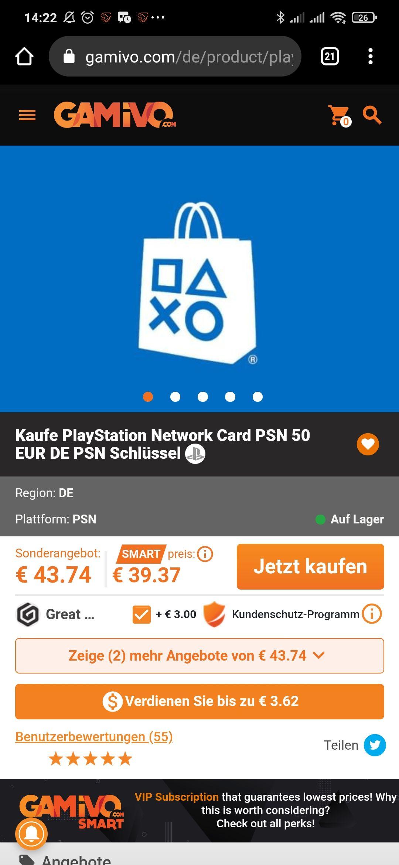 23% auf PSN AT / Playstation Network Guthaben