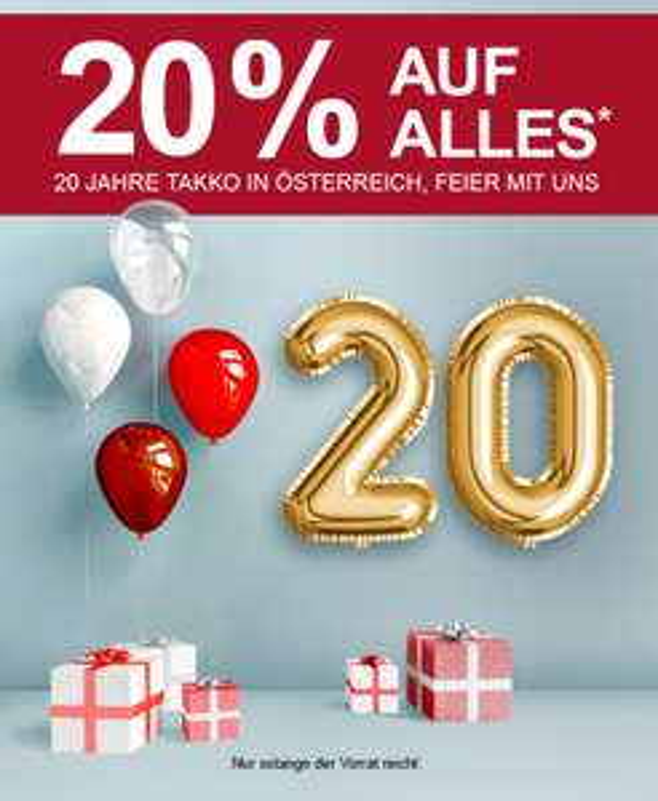 Takko: -20% auf Alles // Couponaktion für Kunden