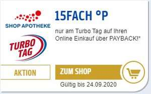 Shop Apotheke Payback: 15-fach Punkte (7.5%) am 24.09.2020