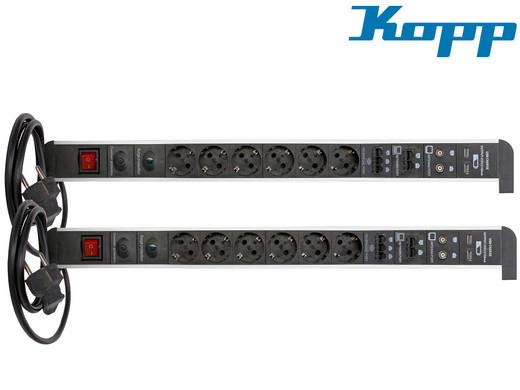 2x Kopp Steckdosenleiste | USB | RJ11 | RJ45 etc.