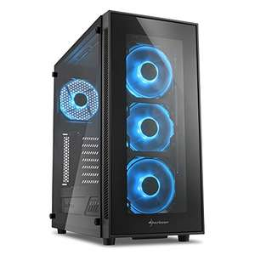 Sharkoon TG5 PC-Gehäuse - Blau oder Rot