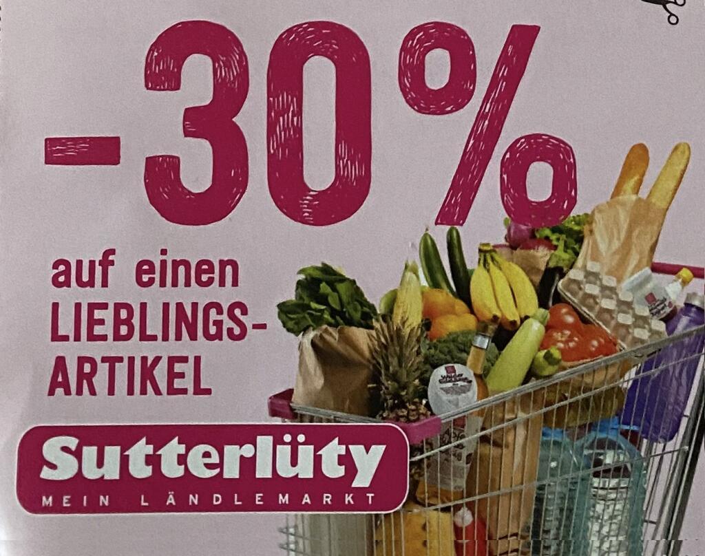 """Lokal Sutterlüty Feldkirch, Frastanz 30% auf ein Artikel zB """"Sodastream Crystal 2.0 mit 3 Karaffen"""""""