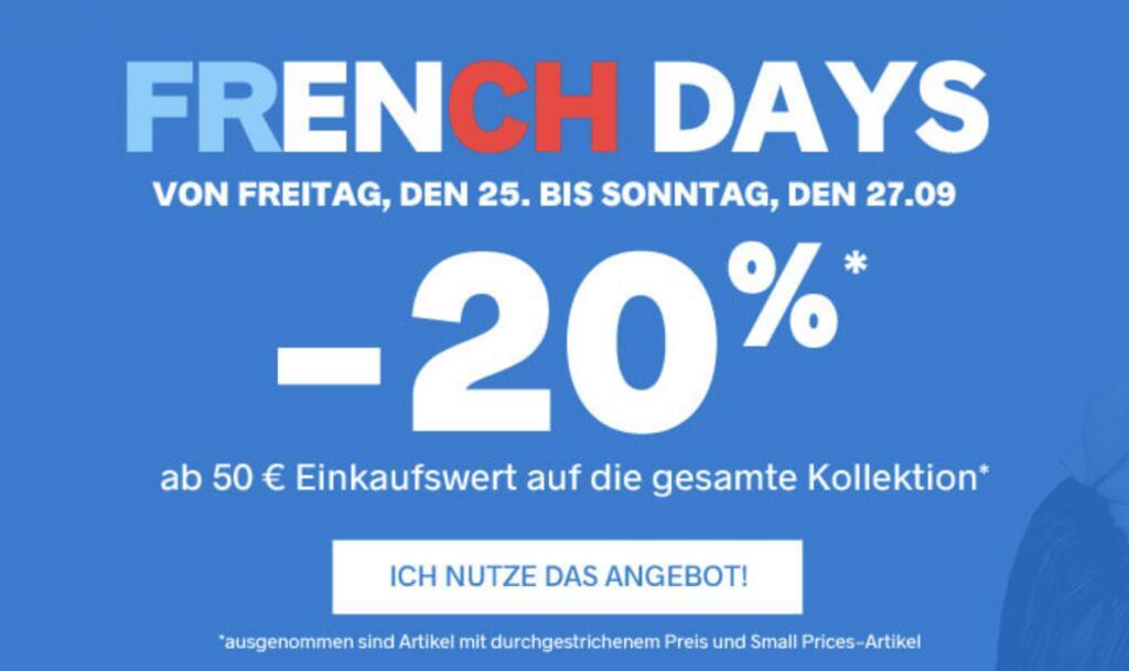 Pimkie: 20% Rabatt auf die Kollektion ab 50€ Bestellwert