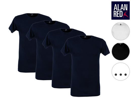 4x Alan Red Basic-T-Shirt