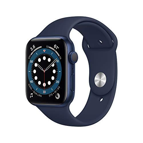 Große Apple Watch Series 6 GPS Blau 44mm