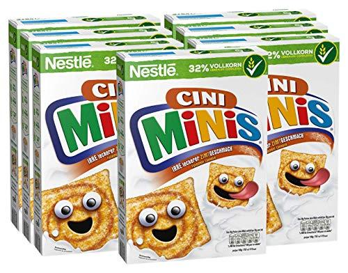 Nestlé CINI MINIS Zimt Müsli (32% vitales Vollkorn, mit Vitaminen, Calcium und Eisen, Krunchy Knusper Flakes) 7er Vorratspack (7 x 375 g)