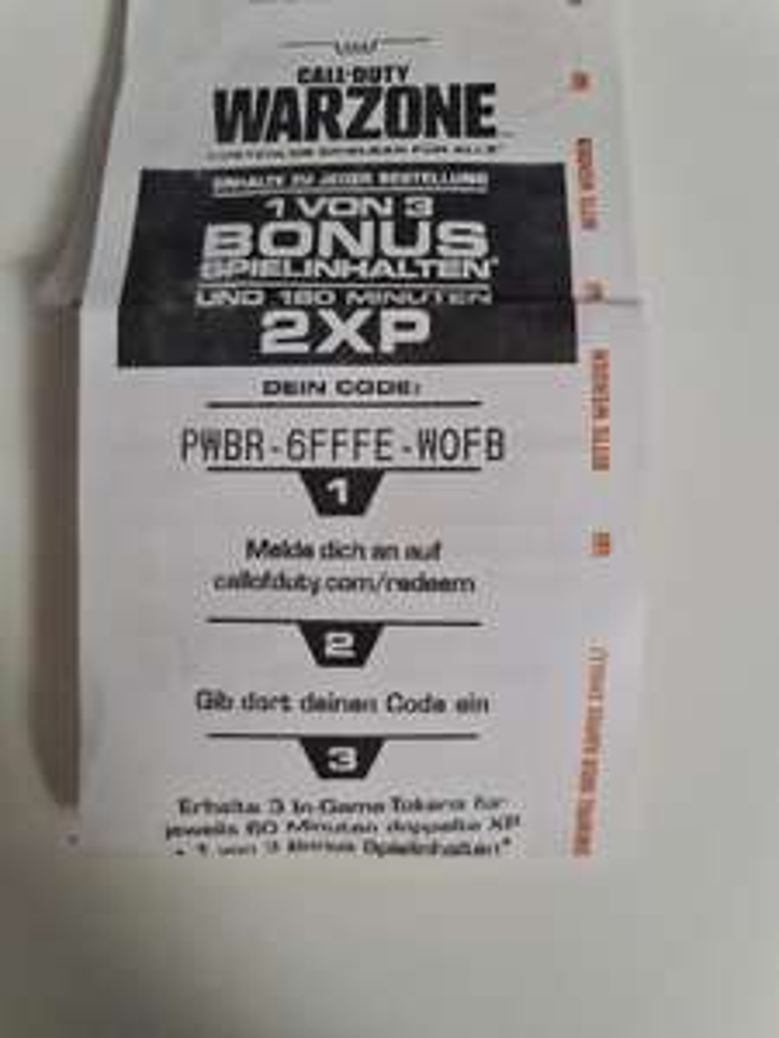 Call of Duty Warzone Burger King Emblem & Doppel XP CODE MEHRMALS einlösbar