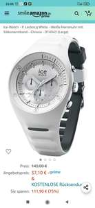 Ice-Watch - P. Leclercq White - Weiße Herrenuhr mit Silikonarmband - Chrono - 014943 (Large