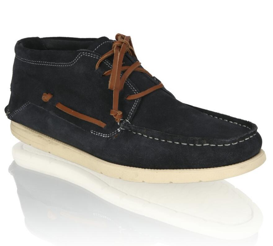 Frank Walker Veloursleder Schuhe, blau od. grau