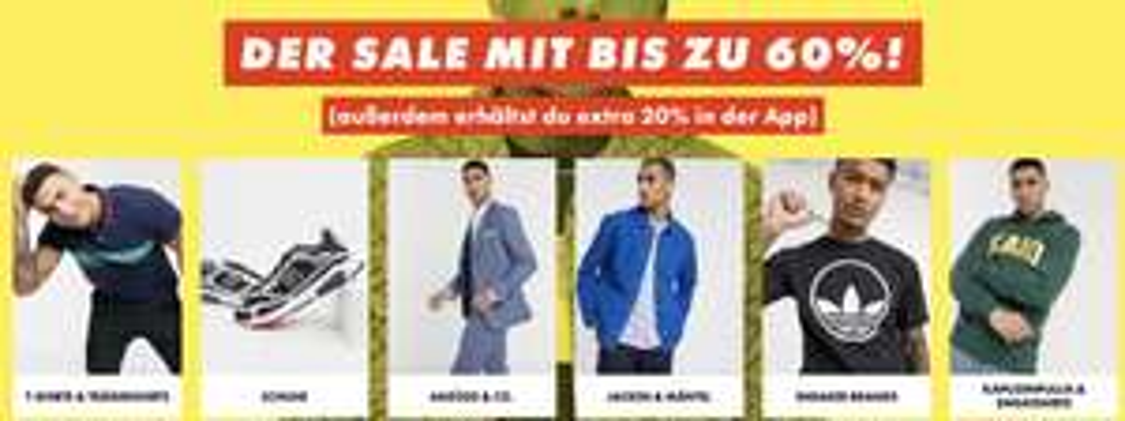 Asos: 20% Extra-Rabatt auf alle Sale-Produkte in der App