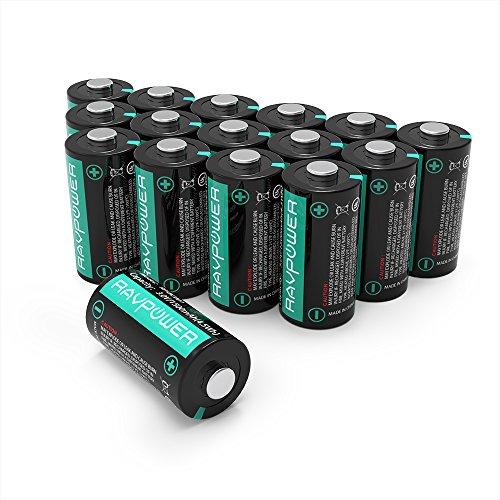 16er Pack RAVPower CR123A 3V Lithium Batterien - keine Akkus