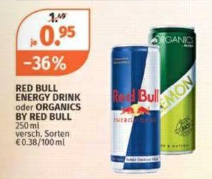 -36% auf Red Bull Energy Drink und Organics by Red Bull beim Müller