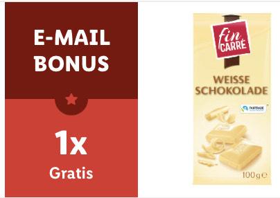 1 x kostenlose Tafel Weiße Fairtrade Schokolade 100 Gr. für ALLE Lidl-Plus-Newsletterabonnenten