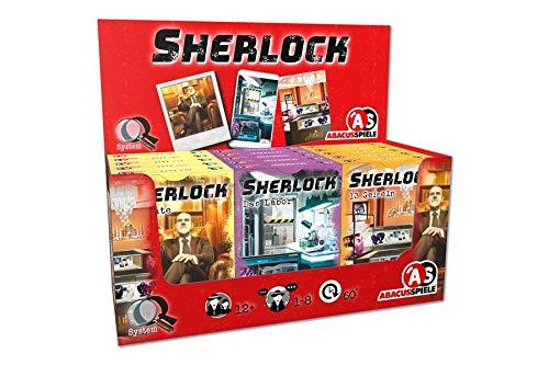 15 x Spiele (3x5) ABACUSSPIELE ABA47192 - Sherlock Krimispiel - Display II