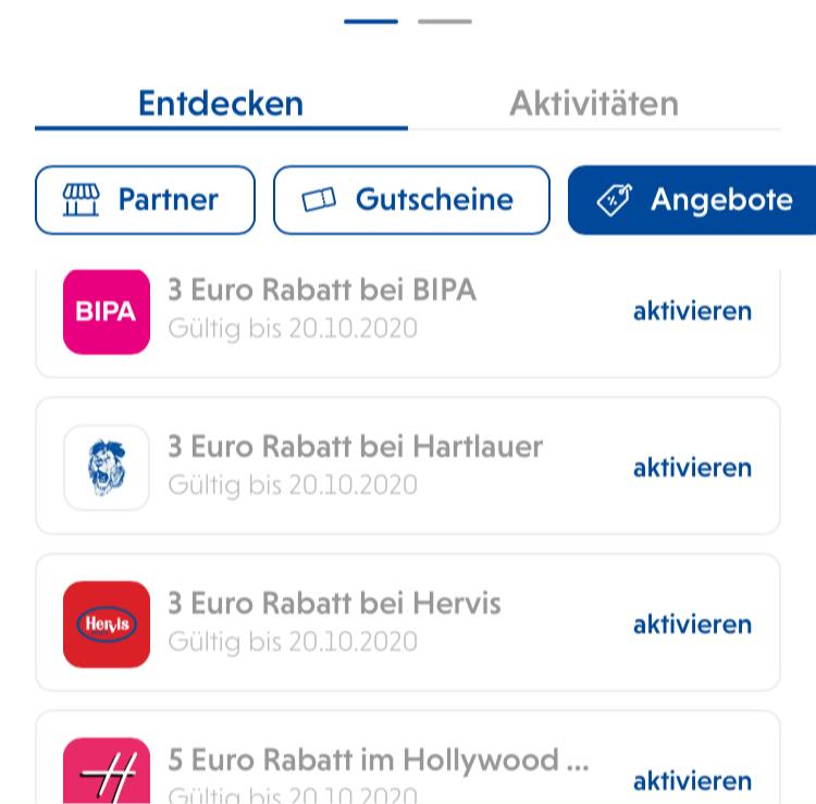 Raiffeisen Bluecode App - Diverse Gutscheine -3 EUR
