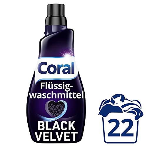 AMAZON.de l Coral Waschmittel flüssig für intensives Schwarz – 22W 4x 1.1L = 4.4 Liter