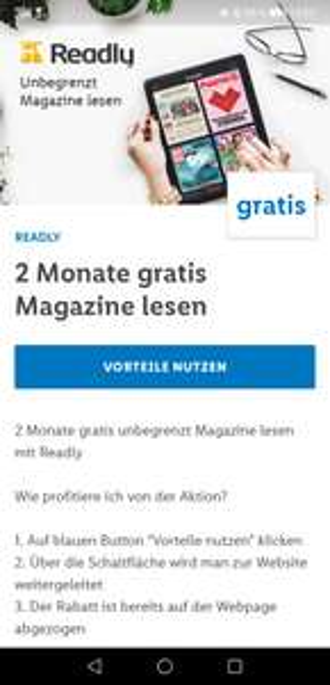 Lidl Plus und Readly: 2 Monate gratis Magazine lesen
