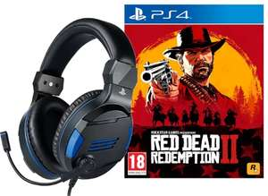 Red Dead Redemption 2 + BIGBEN Stereo-Headset V3 für PS4 (BB371093) [Playstation 4]