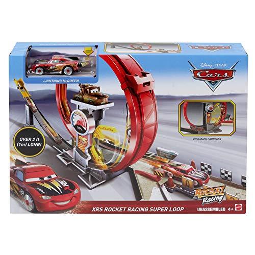 Mattel Disney Cars GJW44 - Xtreme Racing Serie Raketen-Rennen Super-Looping