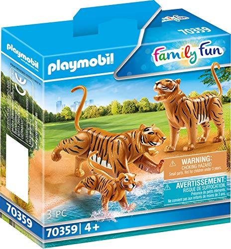 PLAYMOBIL 70359 - 2 Tiger mit Baby (Asiatische Tiger)