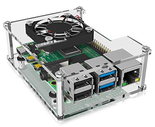 ICY BOX Raspberry Pi 4 Gehäuse mit Lüfter